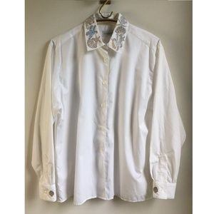 80s 90s Tanner Button Down Shirt Embroidered